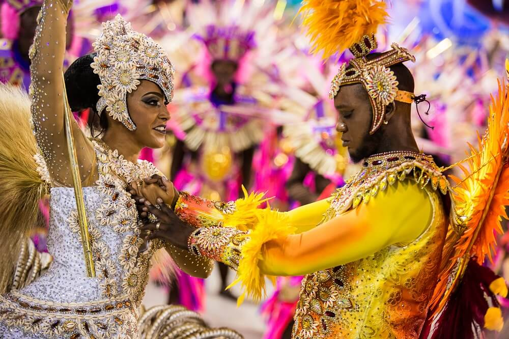 standard-bearer and dancer at the Rio Carnival
